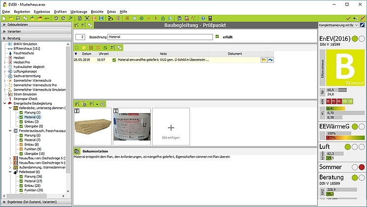 EVEBI Energieberatersoftware - Baubegleitung
