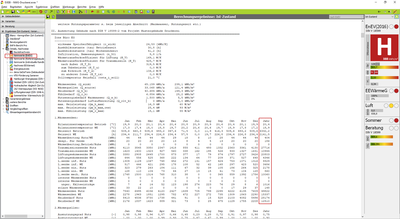 Berechnungsergebnisse DIN V 18599: Jahreswerte