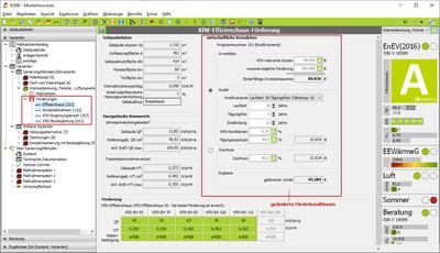 Maske Förderrechner Pro - KfW-Effizienzhaus, geänderte Konditionen