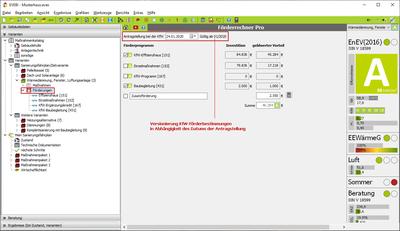 Maske Förderrechner Pro - Versionierung der KfW-Förderbestimmungen