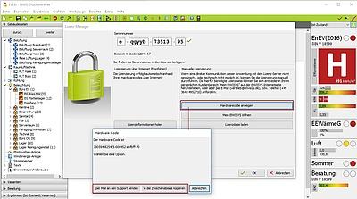 Lizenzierung mittels Hardwarecode