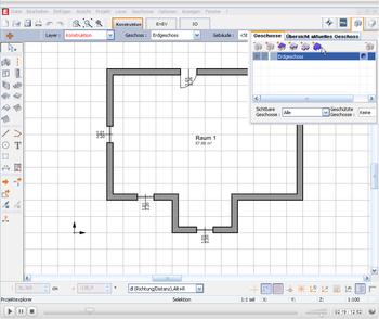 EVEBI Energieberatersoftware - Schnittstelle CAD - IFC - Grundriss