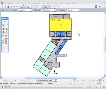 EVEBI Energieberatersoftware - Schnittstelle CAD - Nutzerzonen