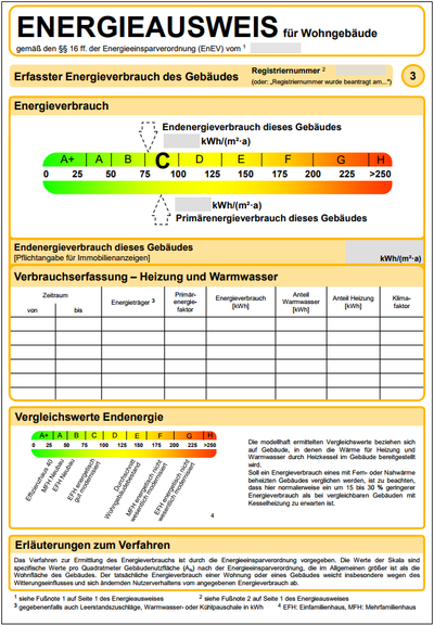 Energieverbrauchsausweis Seite 3