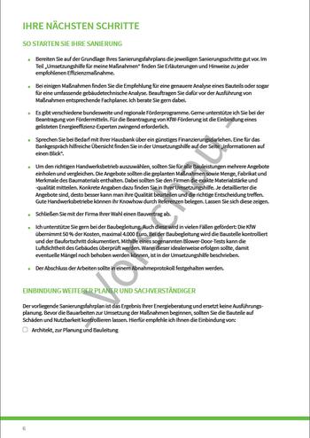 SANIERUNGSFAHRPLAN - Seite 6 - Nächste Schritte