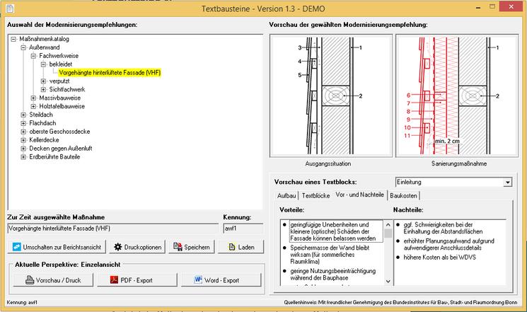 EVEBI Energieberatersoftware - Fachtexte zur Sanierung - Modernisierung Außenwand